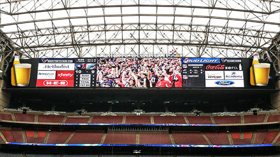 An Attracrtive Digital Billboards For Broadcasting Live Games And For Brand Messages .